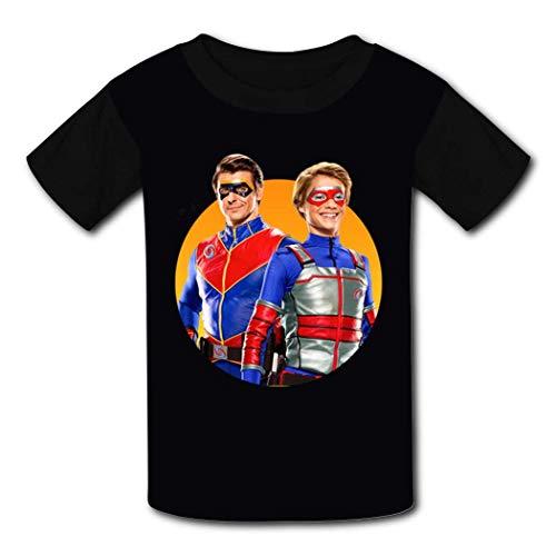 Camisetas para niños para jóvenes de Manga Corta Hen-ry Dan-Ger Boys Girls...