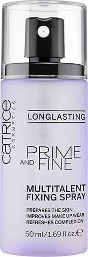 Catrice Prime And Fine Multitalent Fixing Spray, Gesichtsspray, transparent, langanhaltend, vegan, Mikroplastik Partikel frei, Nanopartikel frei (50ml)