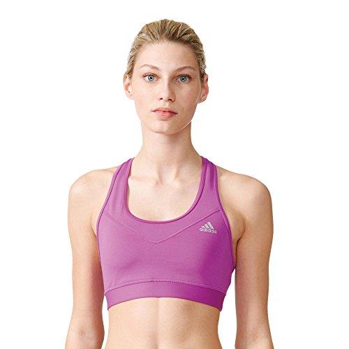 adidas Damen Techfit Solid Sport-BH, Shock Purple/Matte Silver, XS