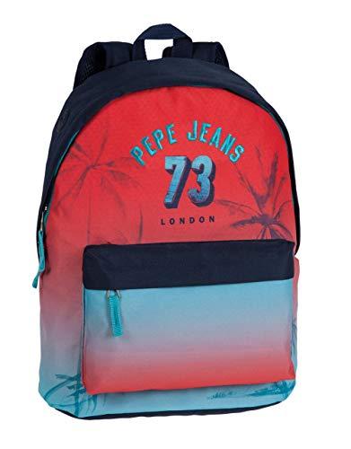 Pepe Jeans 6432351 Dario Mochila Escolar, 21.5 litros, Color Rojo