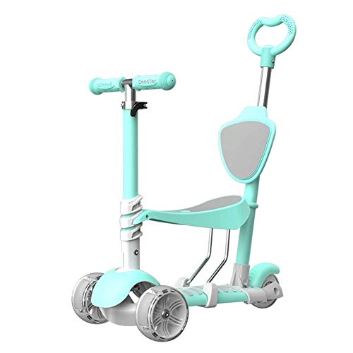 Great Features Of Lcxliga Five-in-one Children Can Take A Trolley, Flash Wheel Cart, Plus Guardrail ...