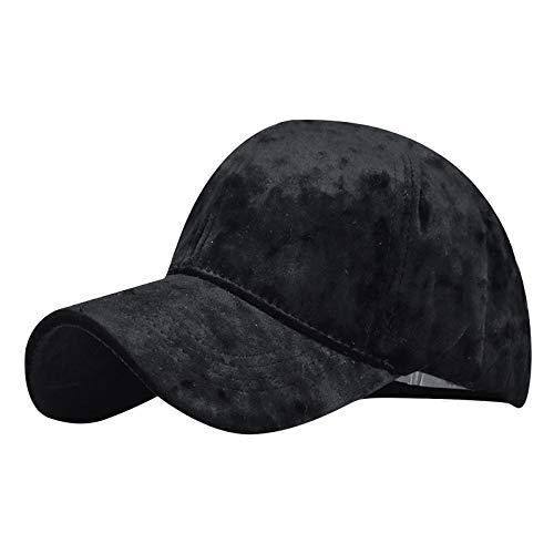 OPIAL Unisex Herbst und Winter Einfarbig Mode Sonnenschutz Baseballmütze Outdoor Komfortable Hipster (A1,Schwarz)