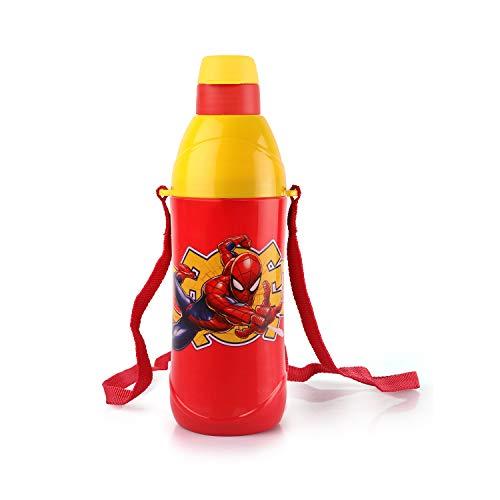 Cello Puro Steel-X Kids Zee Water Bottle, Spider Man Red, 900 ml