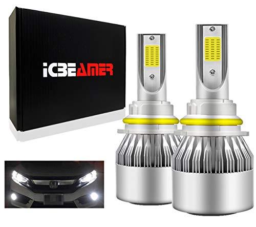 ICBEAMER 9007 HB5 12V 36W LED COB Super White 6000K Fit High Low Dual Beam Headlight Replace Automotive Halogen Driving Light Bulbs