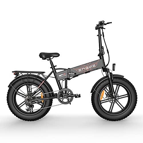 YIN QM Bicicleta eléctrica 48V12.8A 20 * 4.0 Bicicleta de neumático Gordo 750W Motor Potente Bicicleta eléctrica 45KM / H Bicicleta de montaña/Nieve,Negro