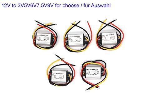 12V bis 5V12V bis 3V5V6V7.5V9V Auto-Strom Konverter DC-DC-Abwärtsmodul 12 V auf 5 V 3 A DC/DC Buck Converter Modul LED Display Netzteil DC-DC Buck Modul Abwärtsmodul (12V bis 7.5V 3A)