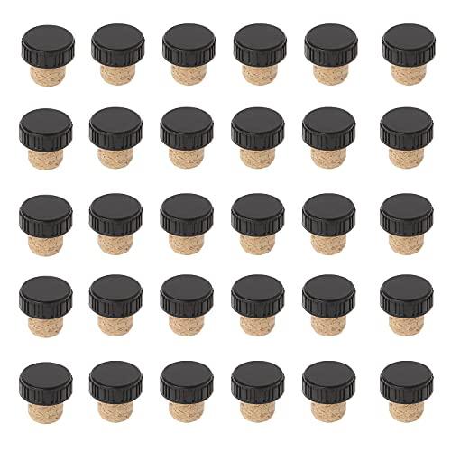 30 Piezas Corchos de Champán Tapón de Tapón de Reutilizable Tapones de Botella para Champán Tapones Corcho Cónicos Cierre de Corcho de Vino Corcho en Forma de T,Cubierta Plástica, para Vino y Cerveza