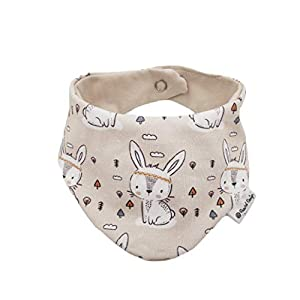 Baby Halstuch Dreieckstuch Boho Hasen Häschen beige Handmade Puschel-Design®