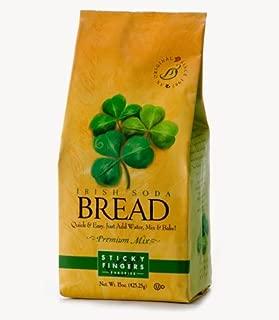 Pack of 6, 15 oz Sticky Fingers Bakeries Bulk Irish Soda Bread Mix: Just Add Water Gourmet Baking Bread Mix Kit