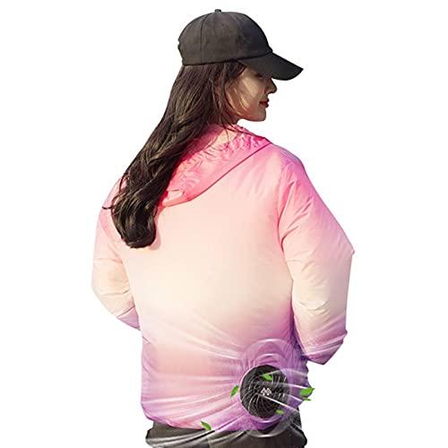 HSY SHOP Chaqueta de Sudor Unisex, con Aire Acondicionado para temperaturas cálidas de Verano, protección Solar y protección UV, Adecuada para Adecuado para Viajes al Aire Libre, Senderismo, Pesca.