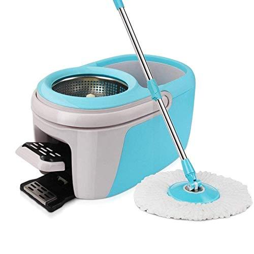 STRAW Microfibra de Spin Mop Bucket Set y 360 ° de rotación de Inicio Sistema de Limpieza de Suelo Spinning fregona del hogar Mop Bucket