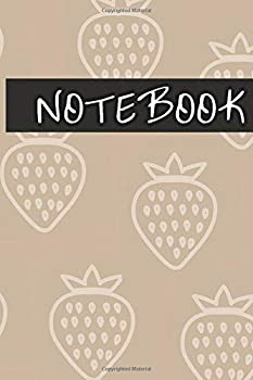 Notebook  Cute Strawberry Notebook Pink Journal 100 Lined Pages 6x9