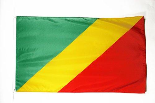 AZ FLAG Flagge Republik des Kongo 150x90cm - KONGOLESISCHE Fahne 90 x 150 cm - flaggen Top Qualität