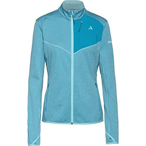 Schöffel Damen Fleece Jacket Houston1 warme und Bequeme Fleecejacke für Frauen, schnell trocknende Jacke mit Daumenschlaufen und Taschen, Angel Blue, 40
