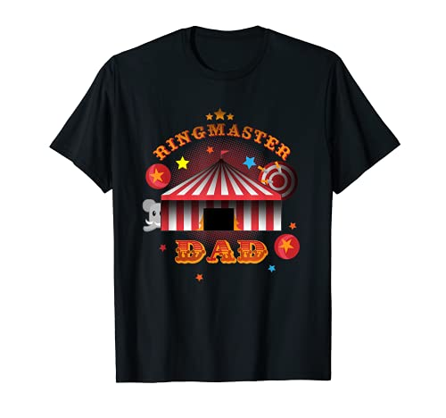 Mens Ringmaster Dad Circus Father Carnival Birthday Costume Party T-Shirt