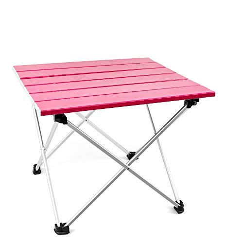 T-Buy Tavolino Portatile da Campeggio in Alluminio,Pieghevole in Alluminio Portatile Adatto per Picnic,Cucina,Escursionismo,Pesca