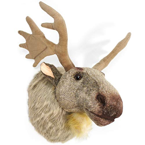Muscovy The Moose - 24 Inch (with Antlers) Large Stuffed Animal Plush Head Trophy Wall Mount Bust - by Tiger Tale Toys