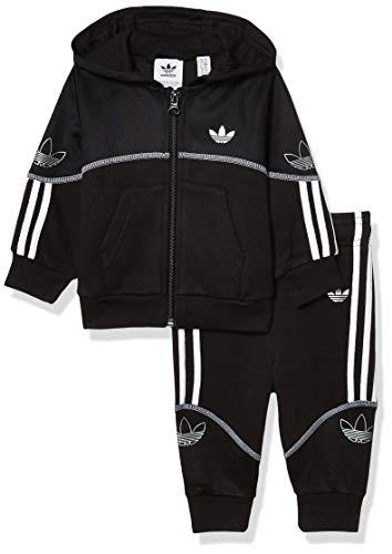 adidas Originals Outline - Sudadera con capucha y cremallera completa para hombre -  Negro -  9 meses