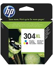 HP 304 XL Inktcartridge Cyaan, Geel, Magenta, 3 kleuren Standaard Capaciteit (N9K07AE) origineel van HP