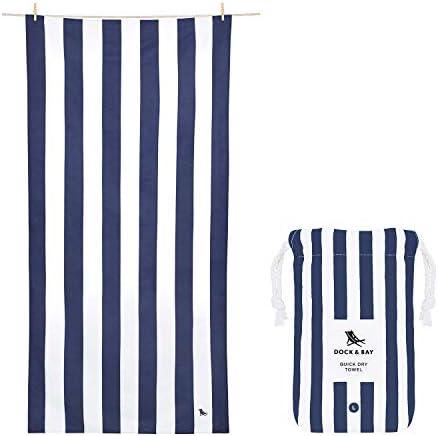 Dock Bay Quick Drying Beach Towel for Travel Cabana Whitsunday Blue Extra Large 200x90cm 78x35 product image