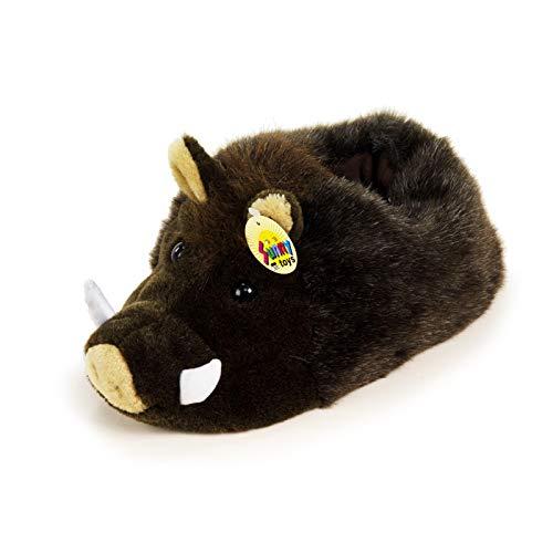 HTI-Living Hausschuhe Plüsch Wildschwein