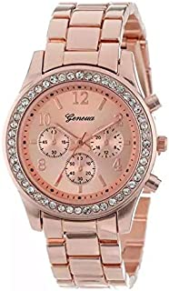 Geneva Dress Watch For Women Analog Stainless Steel Plated - 002R