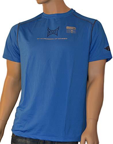 Tapout Pro Herren Kurzarm Kompression T-Shirt Fitted for Combat in Blau, Größe:2XL, Farbe:Blautöne