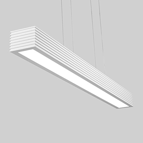 Lewie-lustre LED Restaurant Lumières Simple Moderne Créatif Noir Et Blanc Nordic Aluminium Long Bureau Ruler Study Chandeliers (Couleur : Lumière Chaude)