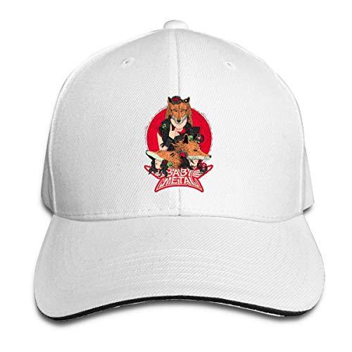 Tengyuntong Sandwich Cap Transpirable Babymetal Logo Gorras de béisbol para Hombres y Mujeres Ajustable Unisex