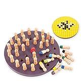 Yusell Hölzerne Memory Match Stick Schachspiel frühen pädagogischen Lernens 3D Puzzle Toy Go, Zehn Farben Memory Schach + Backgammon