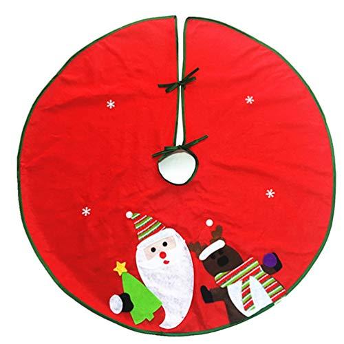 bismarckbeer Rond Bonhomme de Neige Père Noël Sapin de Noël Jupe Home Décorations de fête, Tissu, Couleur 1#, 90 cm