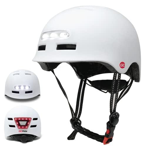 Go Kids Helmet with Safety Lights (Ages 7-18) Adjustable Helmet with Protective Padding Kids Bike Helmet Skateboard Helmet