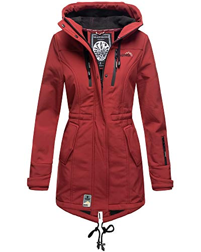 Marikoo Damen Outdoor Softshell Funktions Regen Jacke Parka Windbreaker ZMTZ (XS, Bordeaux)