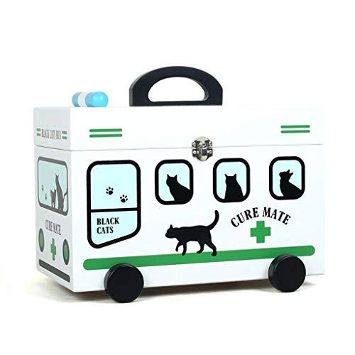 ZHNGHENG - Caja de almacenamiento de medicina para niños, color verde