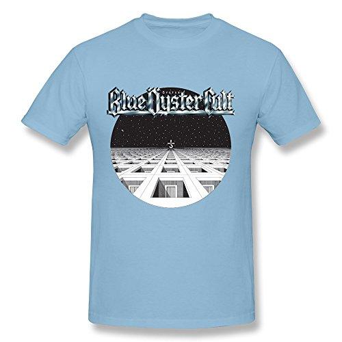 ZEKO Men's T-Shirt Blue Oyster Cult Imaginos Essemtial Size XL SkyBlue