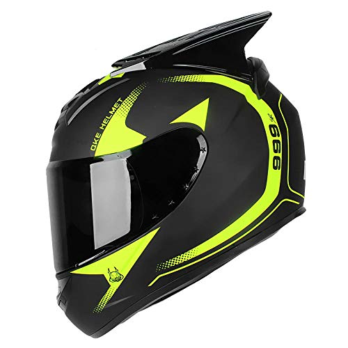 BUETR Casco de moto todoterreno locomotora masculina casco d