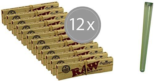 Imagen del productoRAW Connoisseur - Juego de 12 papeles de fumar con puntas y funda