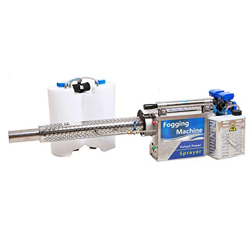 AeasyG Disinfection Fogging Machine,Mist Thermal Fogger Machine,Engine Gas Powered Backpack Sprayer Fogger Mist Blower Sprayer/Mist Blower with 2 L Tank Type 80