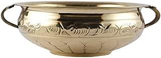 Aatm Brass Designer Urli Utensil Best for Home & Office Decoration & Gift Purpose Handicraft (8 Inch)