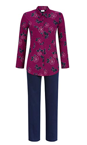 Ringella Damen Pyjama durchgeknöpft Sangria 38 9511235P, Sangria, 38