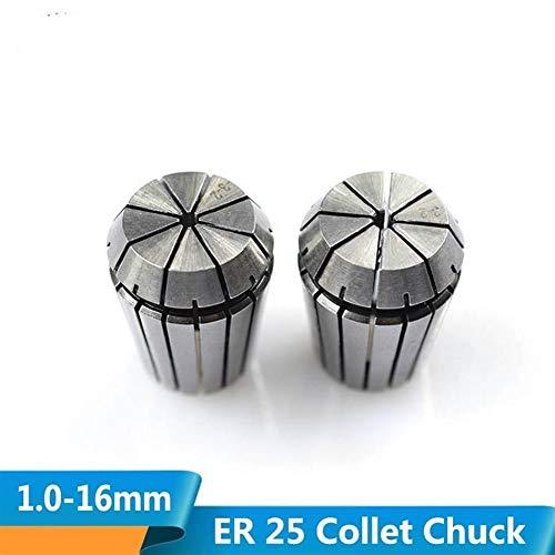 YRYPVD Collar de Resorte 1pc 1.0-16.0mm ER25 Chuck Chuck CNC CNC Router Holder Holder Spring Collet Chuck para la máquina CNC Torno de fresado Alta precisión (Hole Diameter : 1pc ER25 11.0mm)