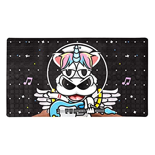 Bath Mat Non-Slip Unicorn Guitar Suction Cups Best Durable and Stylish in Bath Mats Anti-Slip Shower Mat with Modern Design Quality Suction Cups 15.7x27.9 in