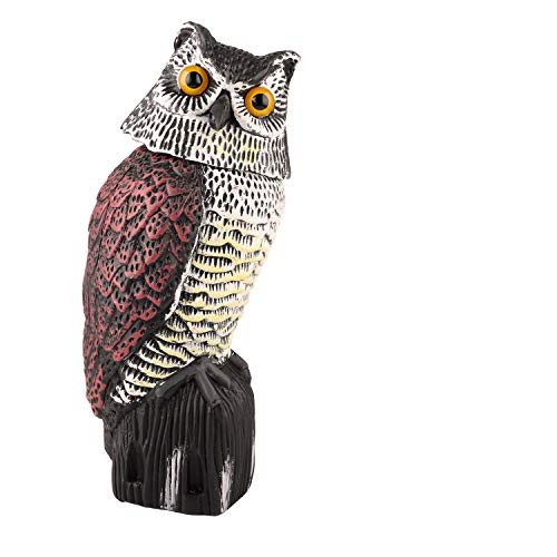 Besmon Owl Decoy Model Used to Scare Birds Away - Realistic Eyes & Waterproof Shape Owls for Bird Control