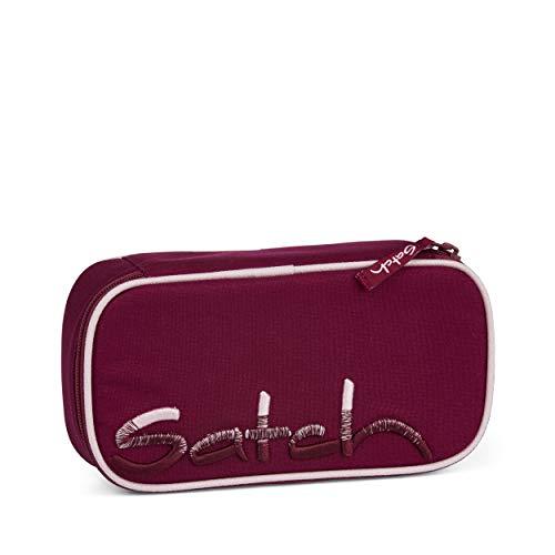 Satch Schlamperbox - Mäppchen groß, Trennfach, Geodreieck - Solid Purple - Lila