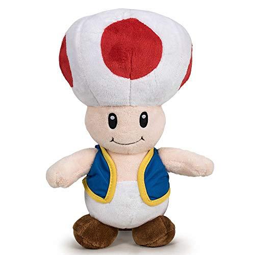 Super Mario Bros - Peluche Seta Toad 30cm Calidad Super Soft
