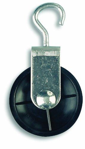 Chapuis VPCL2 Polea de gancho de acero galvanizado - 10 kg - Rueda diámetro 40 mm - Para cuerda de 6 mm de diámetro