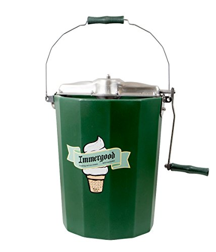 Cheap PREMIUM 6 qt. - Immergood Stainless Steel Ice Cream Maker - Hand Crank
