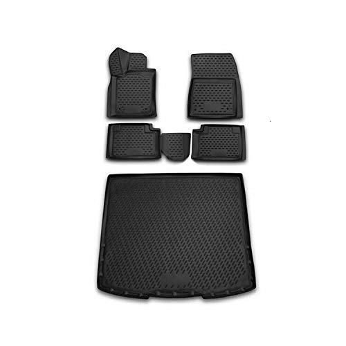 OMAC 3D Gummi Fußmatten + Kofferraumwanne Set kompatibel mit Jeep Grand Cherokee 2014-2021