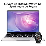 Huawei Matebook 13 2020 - Ordenador Portátil Ultrafino 13' 2K (Intel Core i5-10210U, 8GB RAM, 512GB SSD, Windows 10 Home), Mystic Silver + Watch GT Sport Black, Teclado QWERTY Español