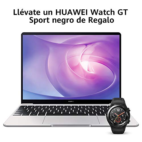 Huawei Matebook 13 - Ordenador portátil Ultrafino 13' 2K (Intel Core i5-8250U, 8GB RAM, 512GB SSD, Nvidia GeForce MX250, Windows 10 Home) Mystic Silver - Teclado QWERTY Español, Plateado